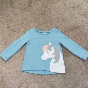 Toddler girl unicorn sweatshirt